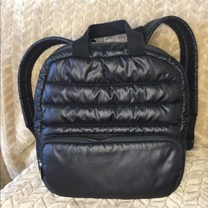 Mossimo Supply Co black quilted backpack bag .